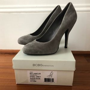 BCBG Grey Suede Lamour Pumps Sz 8.5